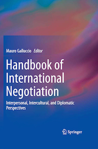 """Handbook of International Negotiation"" out now"